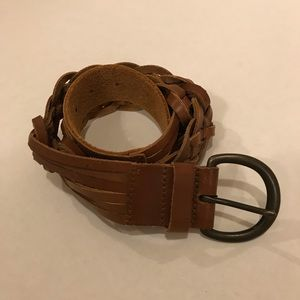 Abercrombie & Fitch Brown Leather Braided Belt